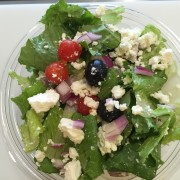 greek salad at the salad bowl outer banks